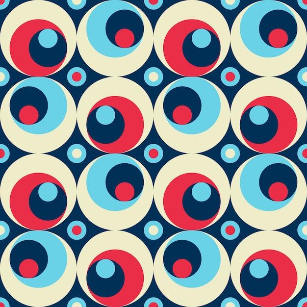 Geometrisches farbiges nahtloses muster der retro- artzusammenfassung. Premium Vektoren