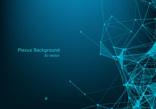 Geometrisches grafisches hintergrundmolekül und -kommunikation. Premium Vektoren