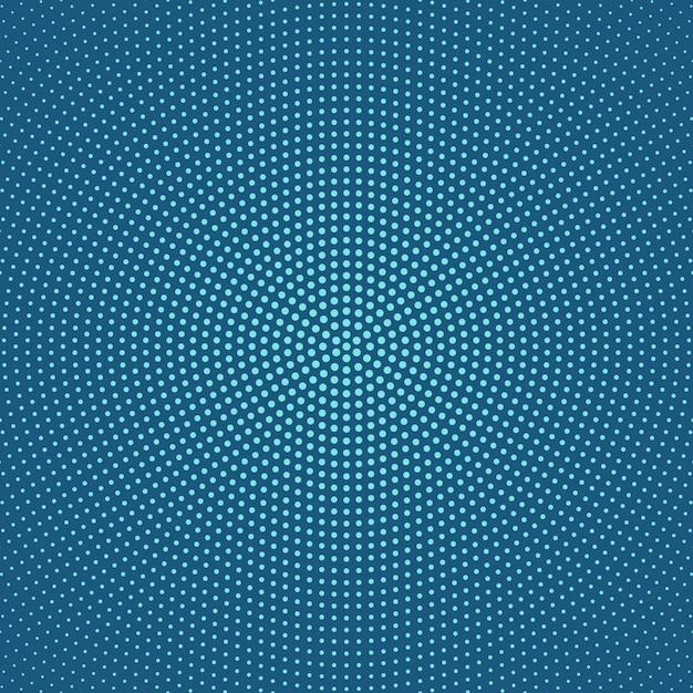 Geometrisches halbtonkreispunktmuster-hintergrunddesign Premium Vektoren
