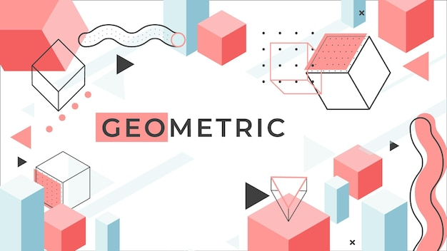Geometrisches hintergrundkonzept Kostenlosen Vektoren