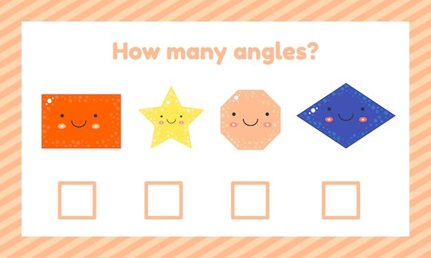 Geometrisches logisches lernspiel für kinder im vorschul- und schulalter. Premium Vektoren