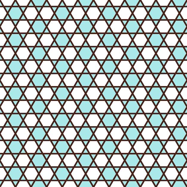 Geometrisches nahtloses muster im islamischen stil Premium Vektoren