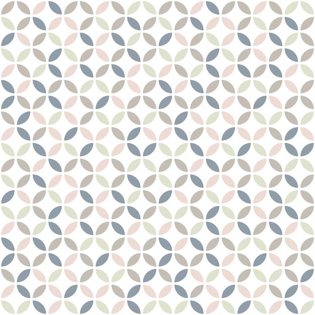 Geometrisches nahtloses muster in den pastellfarben. Premium Vektoren
