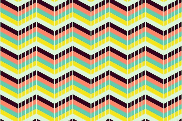 Geometrisches nahtloses muster mit abstraktem streifen Premium Vektoren