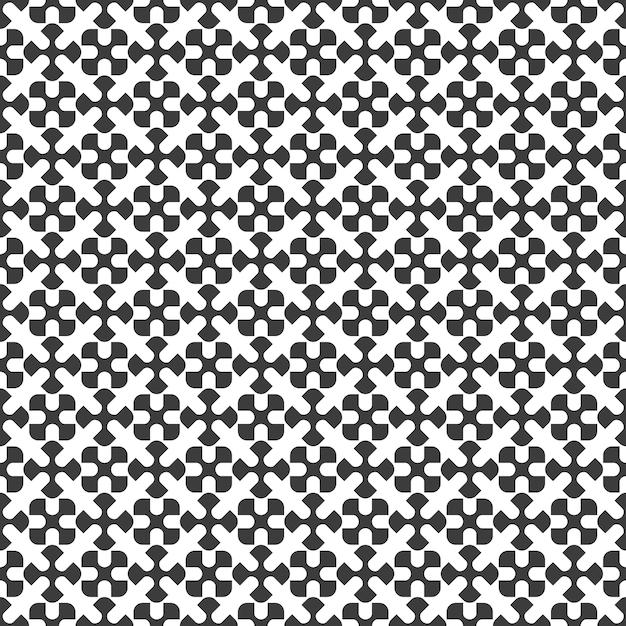 Geometrisches nahtloses schwarzweiss-muster Premium Vektoren