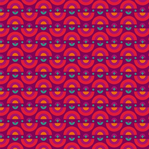Geometrisches psychedelisches grooviges muster Kostenlosen Vektoren