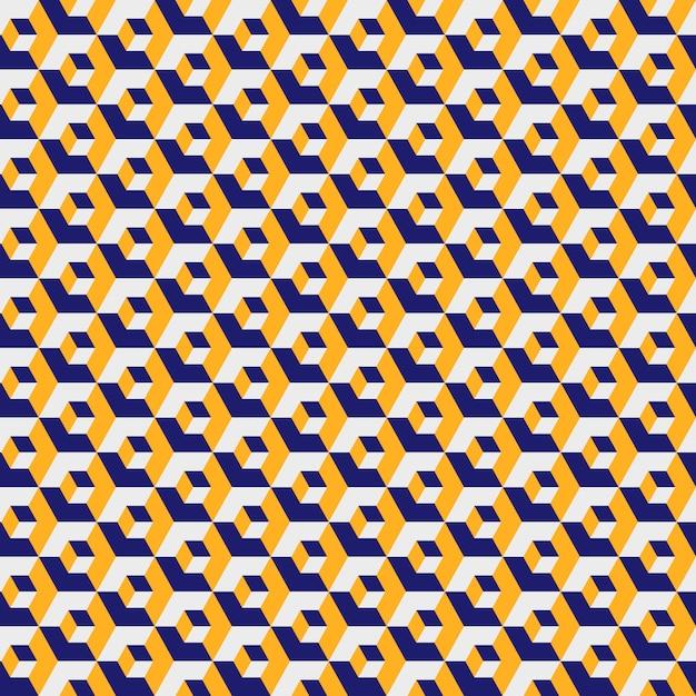 Geometrisches sechseckiges muster, gelbe farbgitterbeschaffenheit. nahtloses sechseck Premium Vektoren