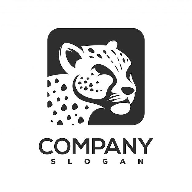 Gepard-logo gebrauchsfertig Premium Vektoren