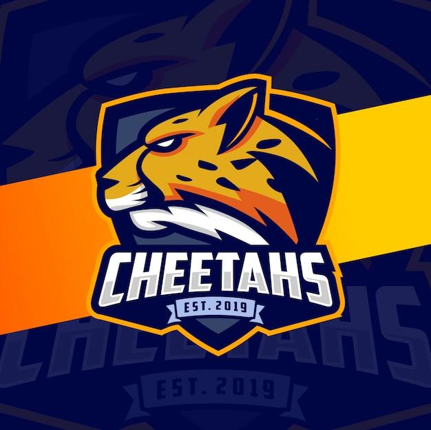 Gepard maskottchen esport logo design Premium Vektoren