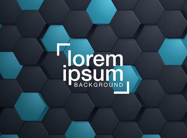 Geprägter hexagonhintergrund Premium Vektoren