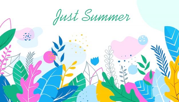 Gerade sommer-blumenhintergrund Premium Vektoren