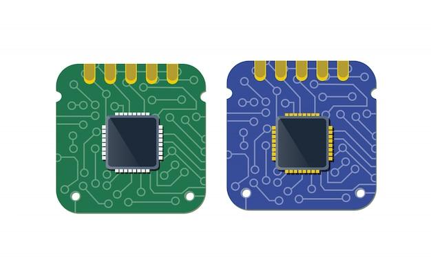 Gerät der elektronischen technologie Premium Vektoren