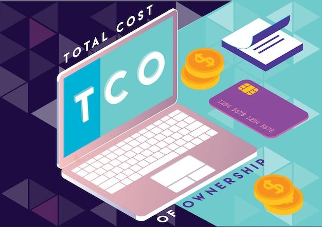 Gesamtkosten der betriebskosten Premium Vektoren