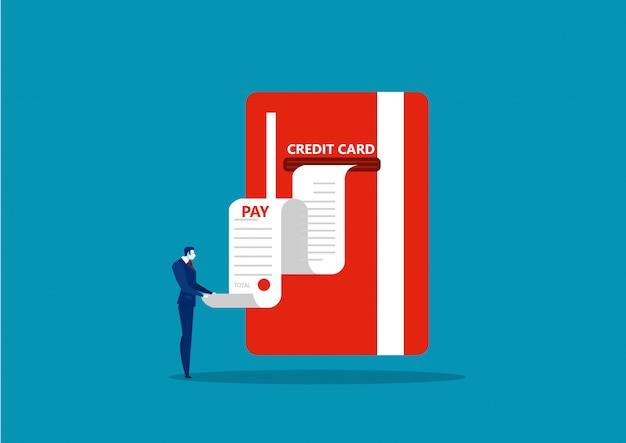 Geschäft empfangen persönliche kreditkarte der berichtsrechnung Premium Vektoren