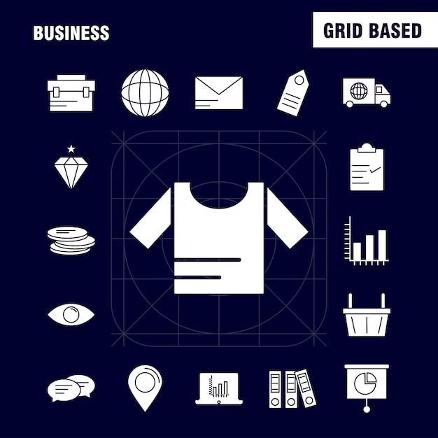 Geschäft feste glyphe-symbol Kostenlosen Vektoren