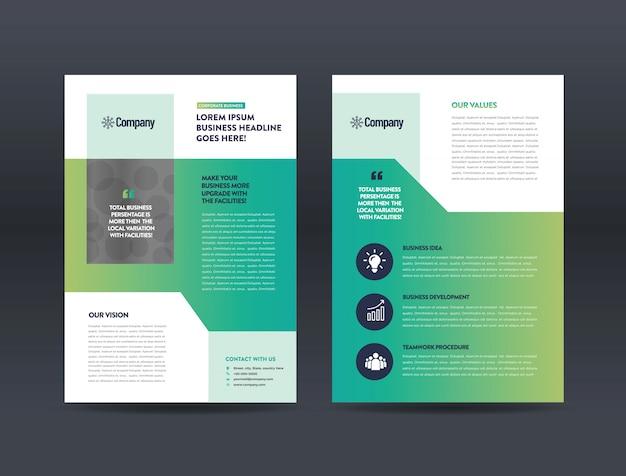 Geschäft flyer design Premium Vektoren