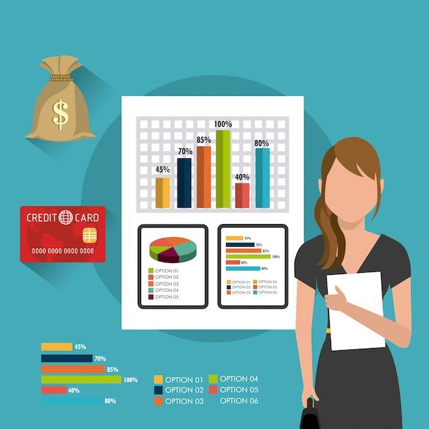Geschäft, geld und personal Kostenlosen Vektoren