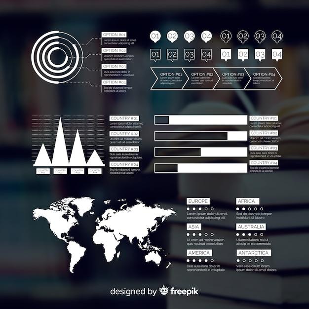 Geschäft infografik mit bild Kostenlosen Vektoren