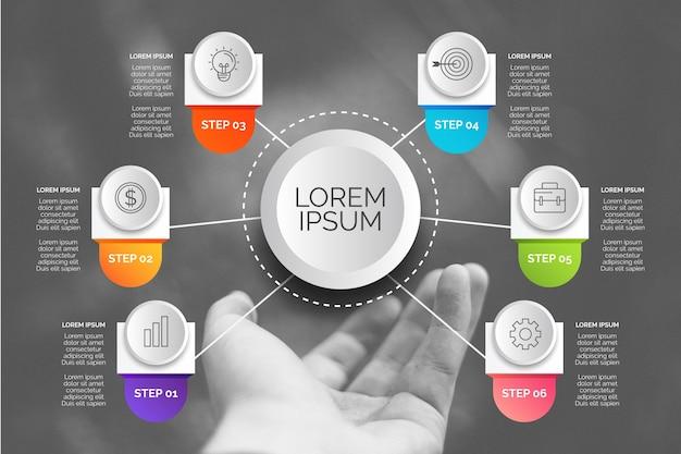 Geschäft infografik mit foto Kostenlosen Vektoren