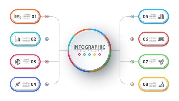 Geschäft infografik. papier-origami-vorlage Premium Vektoren