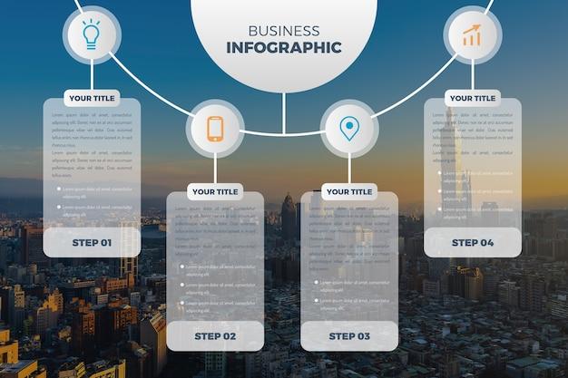 Geschäft infographic mit bild Kostenlosen Vektoren