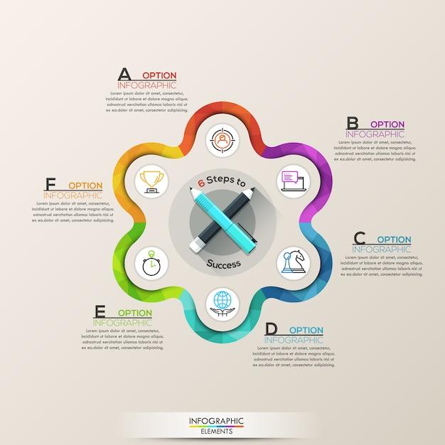 Geschäft infographic mit ikonen Premium Vektoren