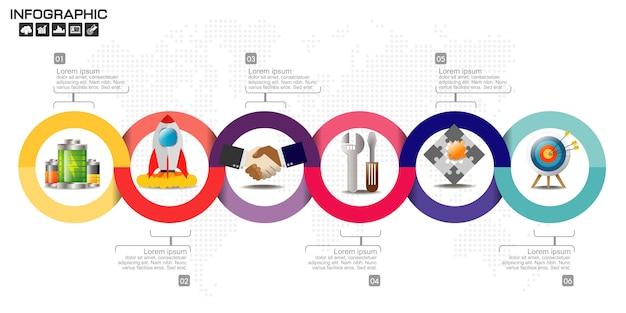 Geschäft infographik elemente vorlage. Premium Vektoren
