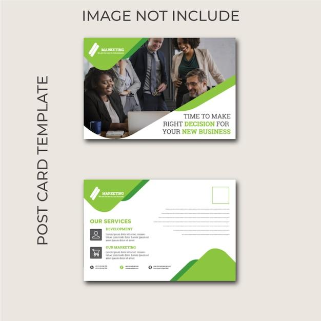 Geschäft postkarte vorlage Premium Vektoren