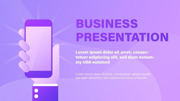 Geschäfts präsentation Premium Vektoren