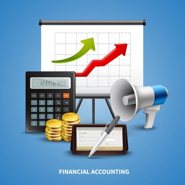 Geschäfts-realistisches konzept Kostenlosen Vektoren