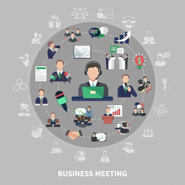 Geschäfts-symbol-runde zusammensetzung Kostenlosen Vektoren