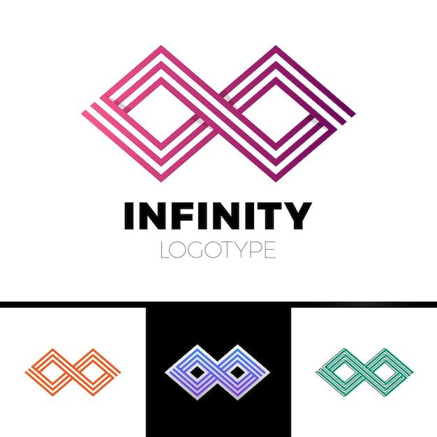 Geschäfts-unendlichkeits-symbol-zusammenfassungs-logodesign Premium Vektoren