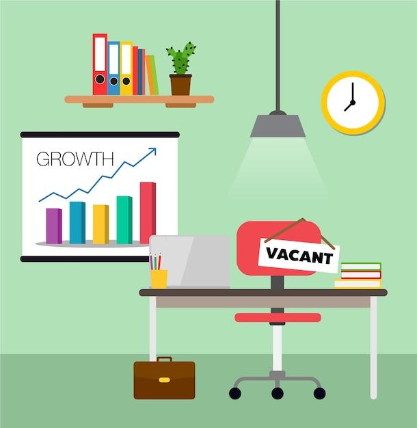 Geschäftsanstellen- und -werbungskonzept Premium Vektoren