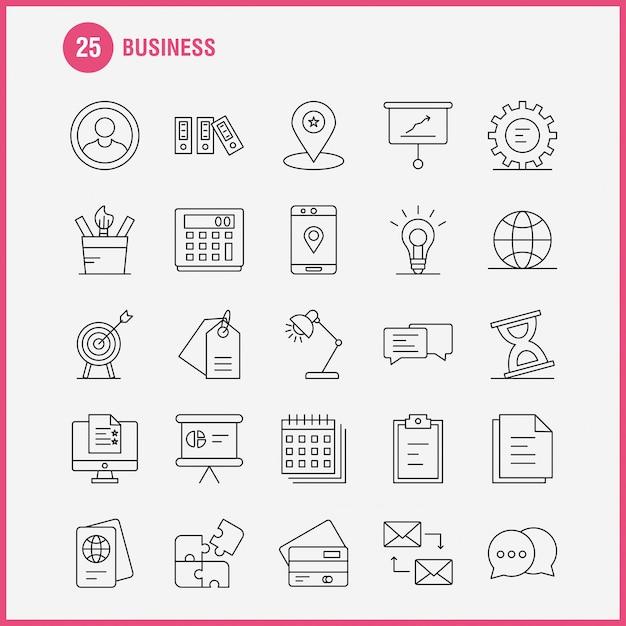 Geschäftsbereich-symbol Premium Vektoren