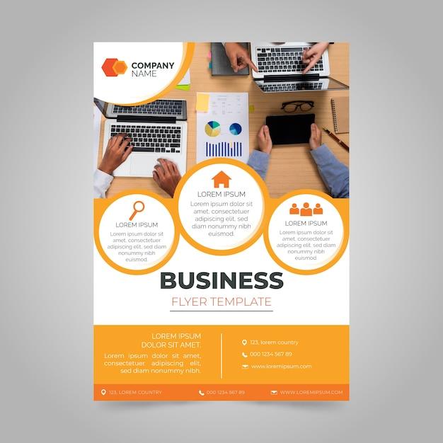 Geschäftsbericht mit foto Kostenlosen Vektoren