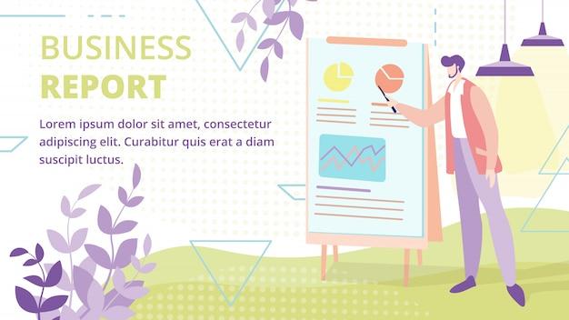 Geschäftsbericht oder präsentationsvektor banner Premium Vektoren