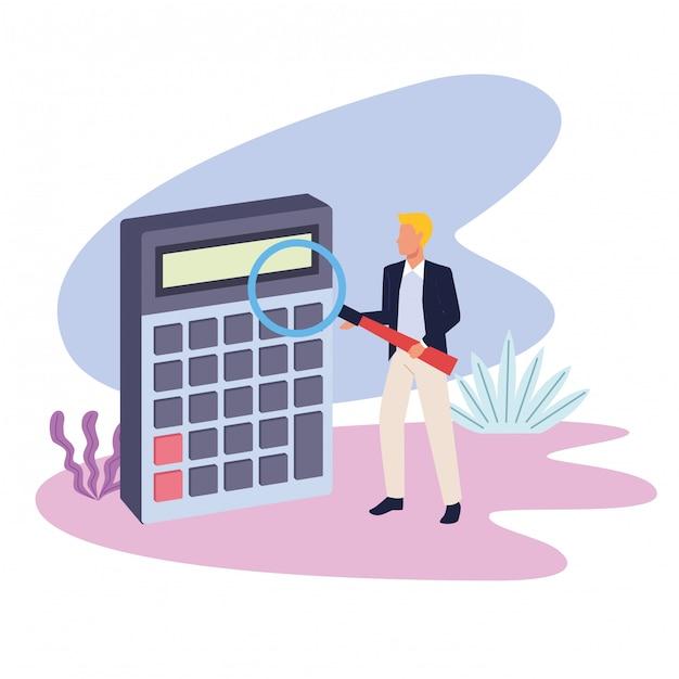Geschäftsberufsführungskraft-arbeitskarikatur Premium Vektoren