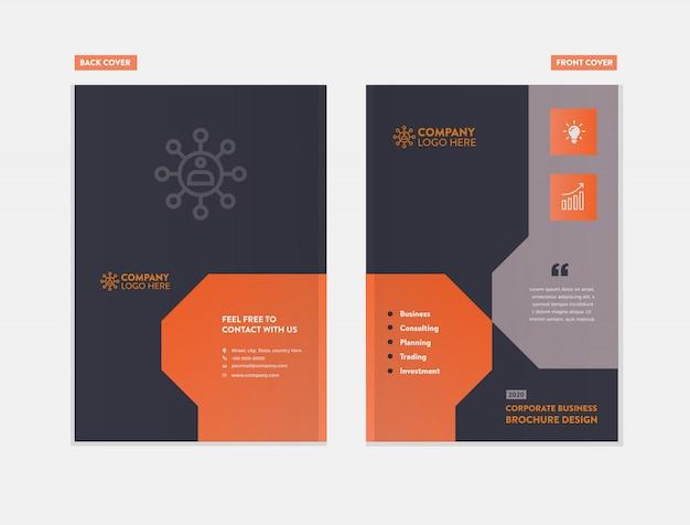 Geschäftsbroschüre cover design Premium Vektoren