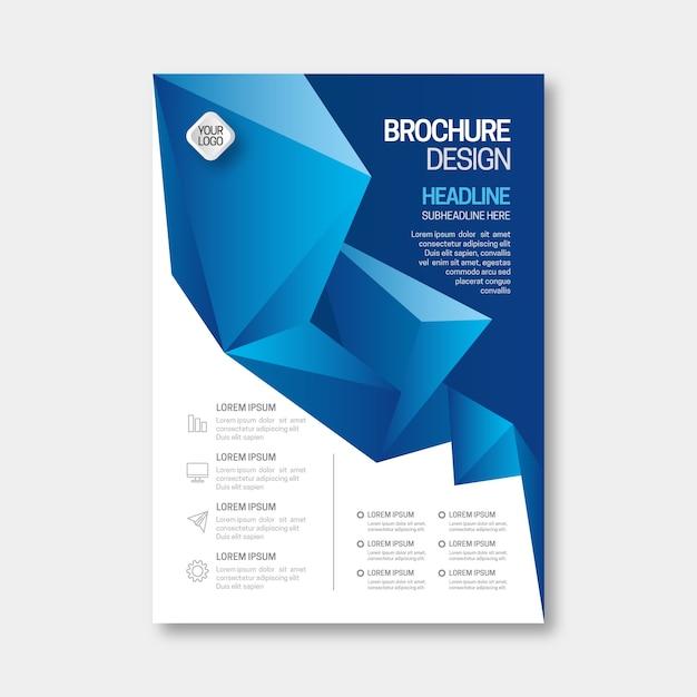 Geschäftsbroschüre im abstrakten design Kostenlosen Vektoren