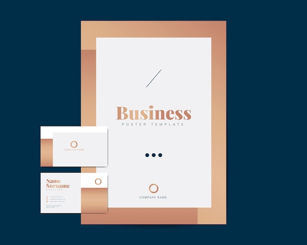 Geschäftsbroschüre und visitenkartenvorlagen Kostenlosen Vektoren