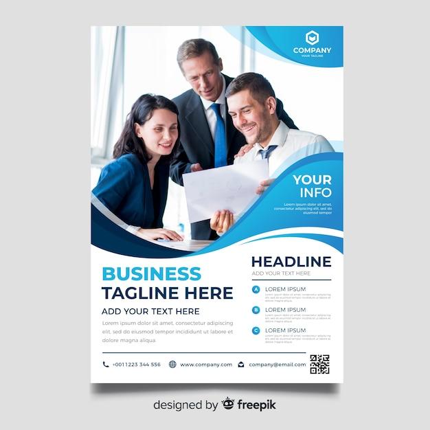 Geschäftsbroschüre vorlage Kostenlosen Vektoren