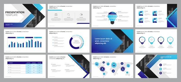 Geschäftsdarstellungs-konzept des entwurfes mit infographic elementen Premium Vektoren