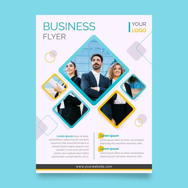 Geschäftsdruckvorlage mit foto Kostenlosen Vektoren