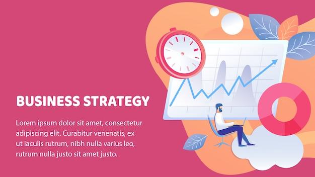 Geschäftserfolg-strategie-plakat-vektor-schablone Premium Vektoren