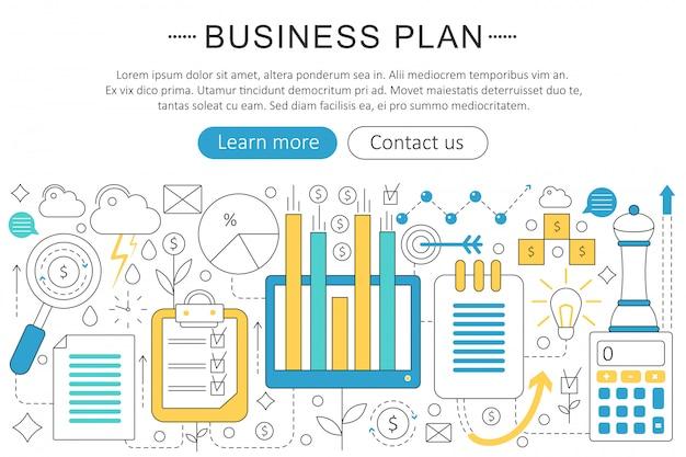 Geschäftsfinanzplankonzept Premium Vektoren