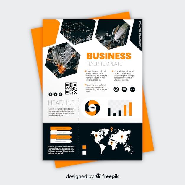 Geschäftsfliegerschablone mit mosaikdesign Kostenlosen Vektoren