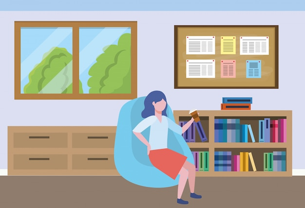 Geschäftsfrau avatar cartoon Kostenlosen Vektoren