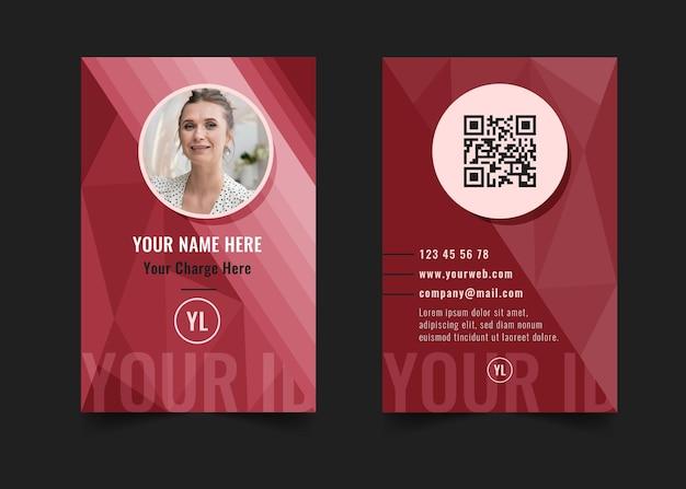 Geschäftsfrau id-karte Kostenlosen Vektoren
