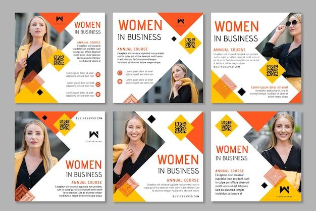 Geschäftsfrau instagram beiträge Kostenlosen Vektoren