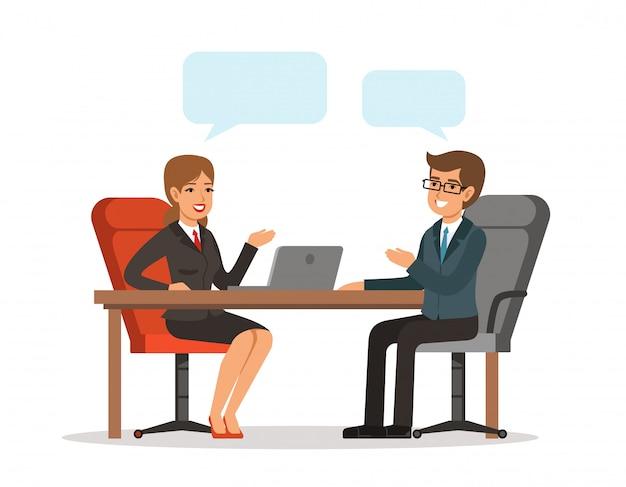 Geschäftsgespräch Premium Vektoren